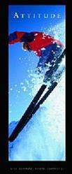 Attitude Skier Poster 12x36