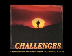 Biker Challenge Poster 20x16