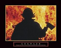 Firefighter Courage Poster 20x16
