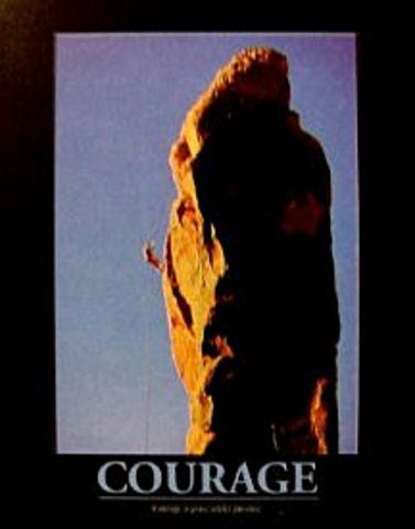 Rock Climbing Courage Poster 16x20