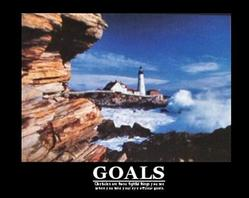 Lighthouse Goals Poster 20x16