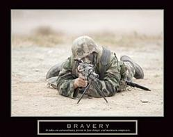 Sniper Bravery Poster 20x16