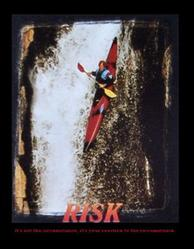 Kayaker Risk Poster 16x20