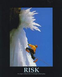 Snow Climber Risk Poster 16x20