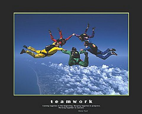 teamwork poster images galleries with a bite. Black Bedroom Furniture Sets. Home Design Ideas