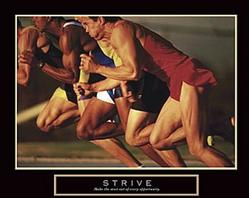 Running Race Strive Poster 20x16