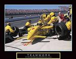Race Car Teamwork Poster 20x16