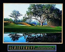 Golf Achievement Poster 10x8