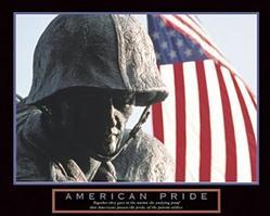 American Pride Poster 10x8