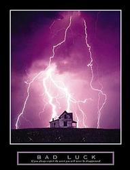 Bad Luck Lightning Poster 8x10