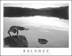 Yoga Balance Poster 10x8