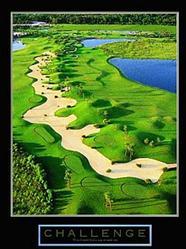 Golf Challenge Poster 8x10