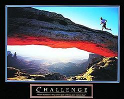 Runner Challenge Poster 10x8