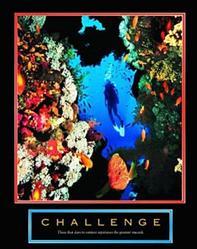 Scuba Diver Challenge Poster 8x10