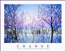 Snowy Trees Change Poster 10x8