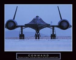SR-71 Blackbird Command 10x8