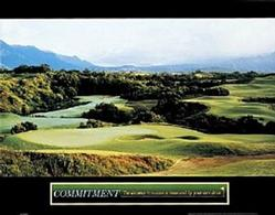 Golf Commitment Poster 10x8