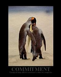 Penguins Commitment Poster 8x10