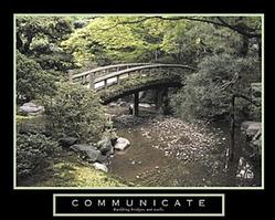 Bridge Communicate Poster 10x8