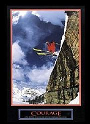 Snow Skier Courage Poster 8x10