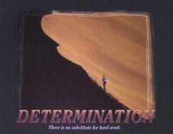 Runner Determination Poster 10x8