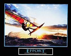 Windsurfing Effort Poster 10x8