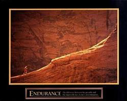 Runner Endurance Poster 10x8
