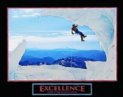 Snow Climber Excellence Poster 10x8