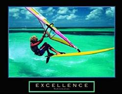 Windsurfer Excellence Poster 10x8