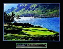 Golf Goals Poster 10x8