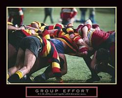 Rugby Group Effort Poster 10x8