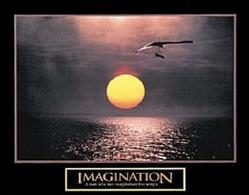 Hang Gliding Imagination Poster 10x8