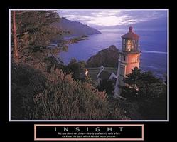 Lighthouse Insight Poster 10x8
