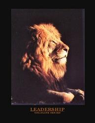 Lion Leadership Poster 8x10