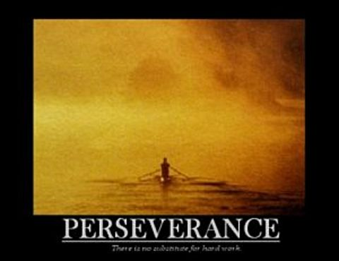 Rower Perseverance Poster 10x8