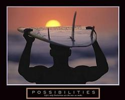 Surfer Possibilities Poster 10x8