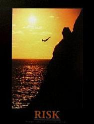 Cliff Diver Risk Poster 8x10