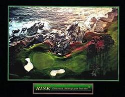 Golf Risk Poster 10x8