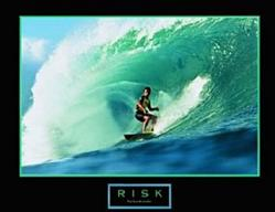Surfer Risk Poster 10x8