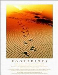 Footprints Spiritual Poster 8x10