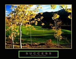 Golf Success Poster 2 10x8