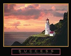 Lighthouse Success Poster 10x8