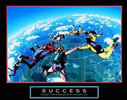 Skydivers Success Poster 10x8