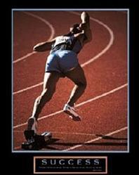 Runner Success Poster 8x10