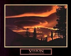 Gold Sky Vision Poster 10x8