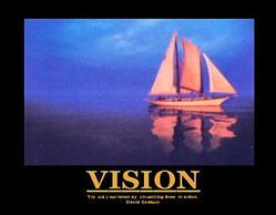 Vision Sailboat Poster 28x22