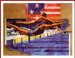 Olympic Swimmers Poster 28x22