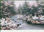 River Cascade Litho