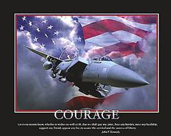 Courage Military Jet, Silver Metal Frame
