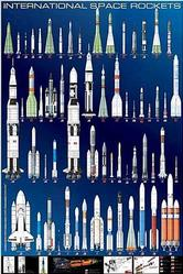 Astronomy: International Space Rockets 24x36
